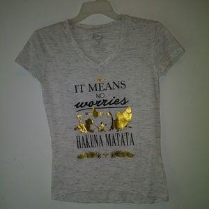 Disney t- shirt top hakuna matata sz XS